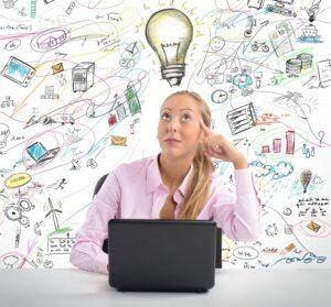 vision woman-idea-lightbulb